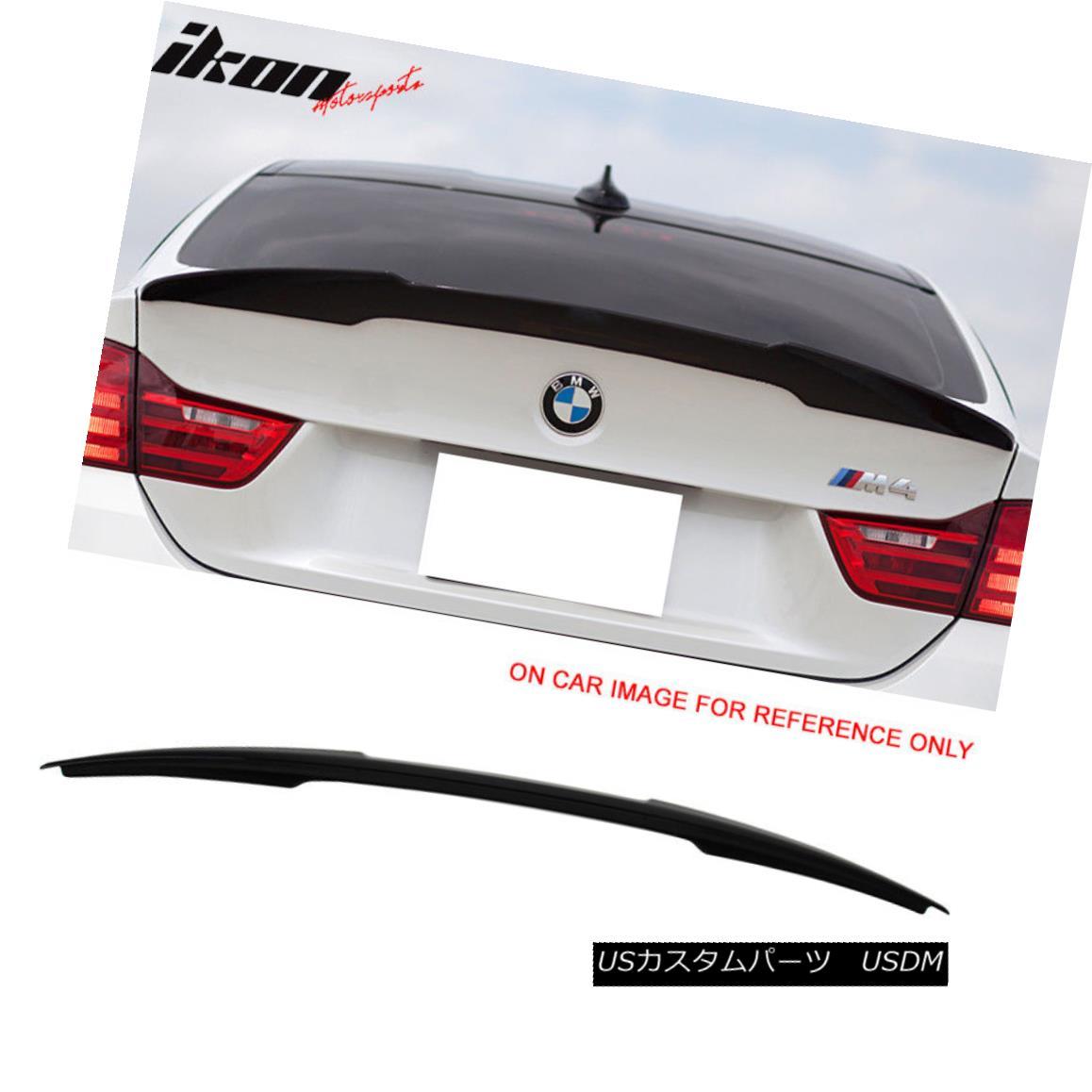 エアロパーツ 14-17 BMW F32 2Dr Coupe M4 Painted Trunk Spoiler #475 Black Sapphire Metallic 14-17 BMW F32 2DrクーペM4塗装トランク・スポイラー#475ブラック・サファイア・メタリック