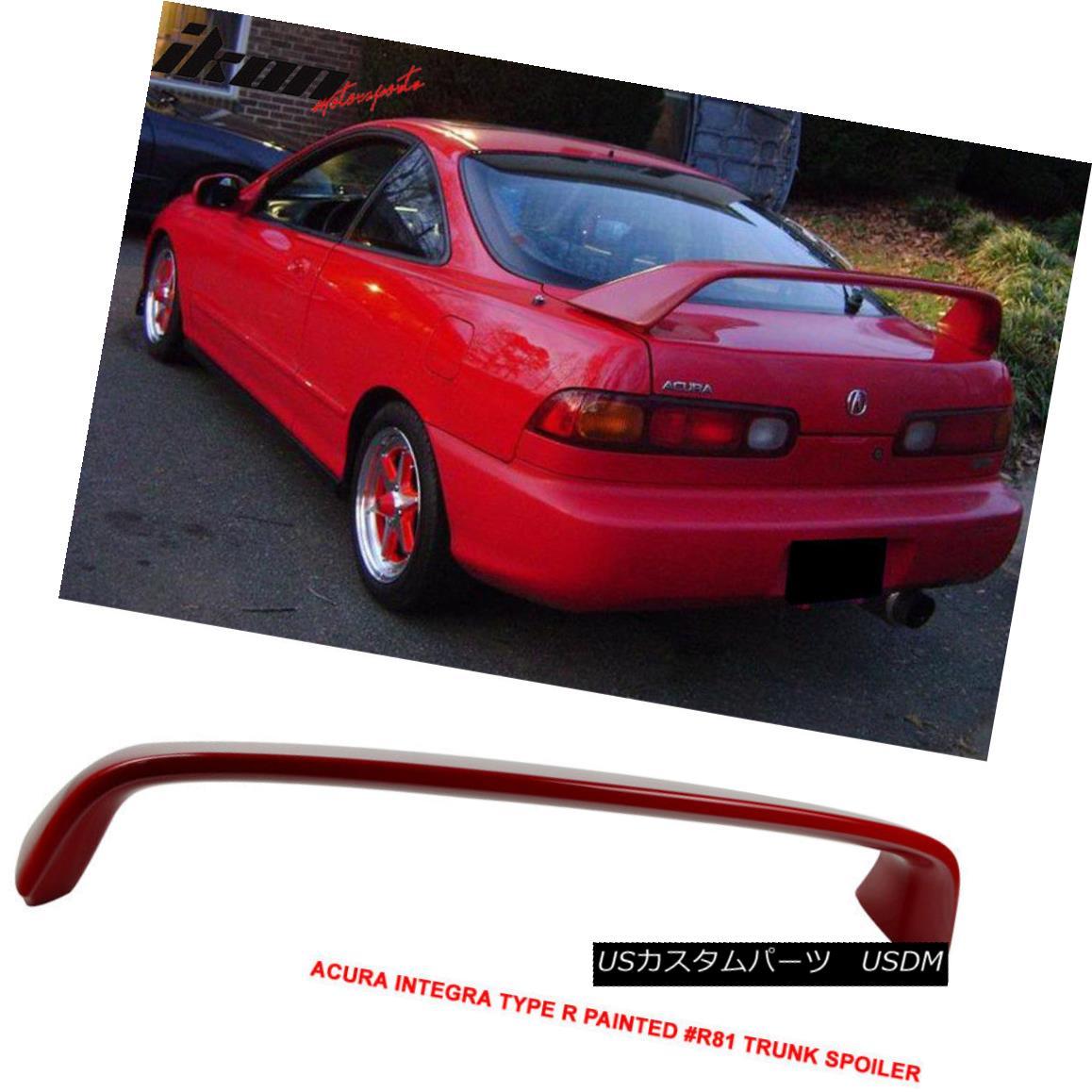 エアロパーツ Fit 94-01 Integra DC2 Type R Painted # R81 Milano Red Trunk Spoiler フィット94-01 Integra DC2タイプR塗装済み#R81ミラノレッドトランク・スポイラー