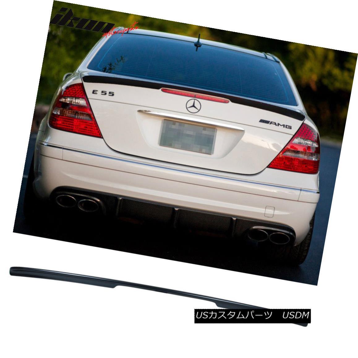 エアロパーツ Fits 03-09 E-Class W211 AMG Trunk Spoiler Wing Painted Flint Gray Metallic #368 フィット03-09 EクラスW211 AMGトランクスポイラーウイングペイントフリントグレーメタリック#368