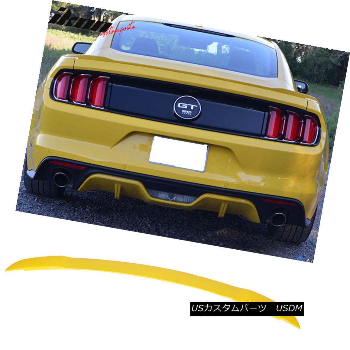 エアロパーツ 15-18 Ford Mustang 2Dr Coupe GT Trunk Spoiler Painted Triple Yellow # H3 - ABS 15-18フォードマスタング2DrクーペGTトランクスポイラーペイントトリプルイエロー#H3 - ABS