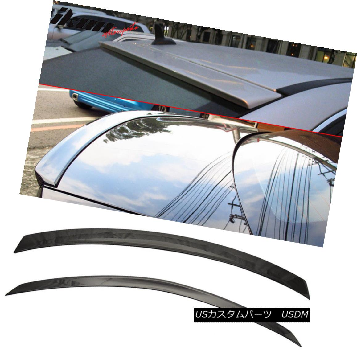 エアロパーツ Fits 08-14 Benz W204 Sedan AMG Trunk & OE Roof Wing Painted #197 Obsidian Black フィット08-14ベンツW204セダンAMGトランク& OEルーフウイング#197 Obsidian Black