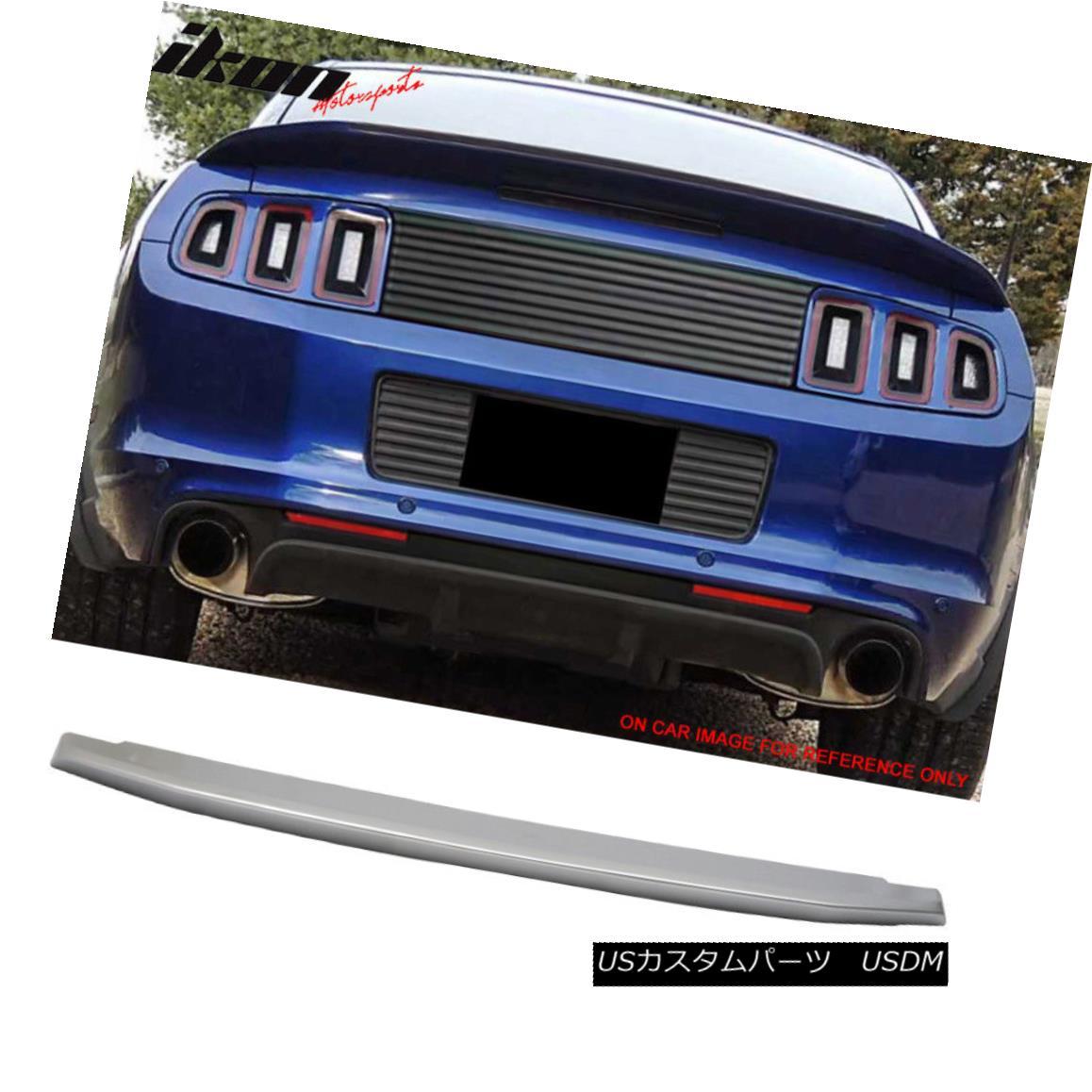 エアロパーツ Fits 10-14 Mustang GT V8 OE Factory Trunk Spoiler Painted #UI Brilliant Silver フィット10?14ムスタングGT V8 OE工場トランク・スポイラー#UIブリリアント・シルバー