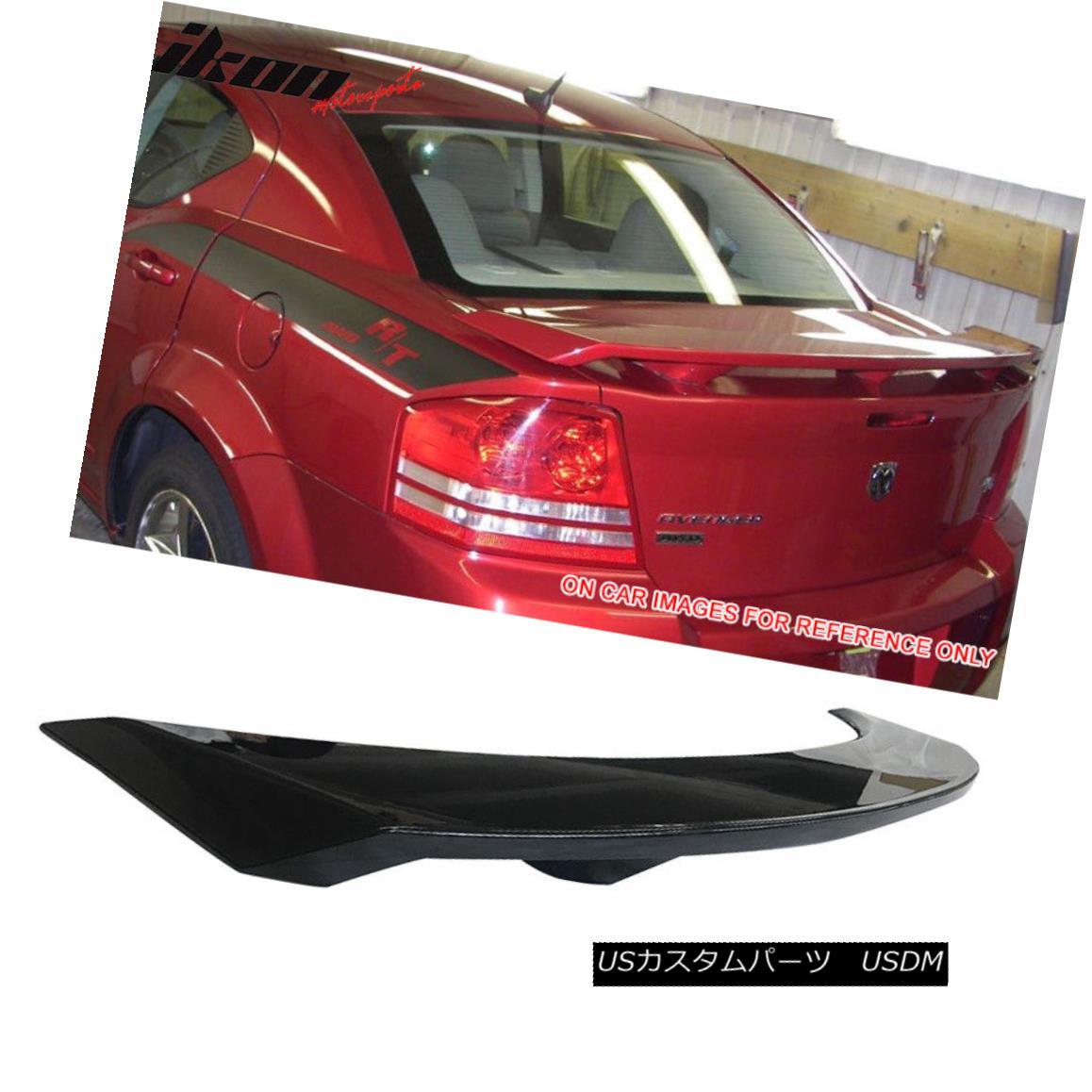 エアロパーツ Fits 08-14 Dodge Avenger Factory Style Trunk Spoiler Painted #PXR Black フィット08-14ダッジアヴェンジャーファクトリースタイルトランクスポイラー塗装#PXRブラック