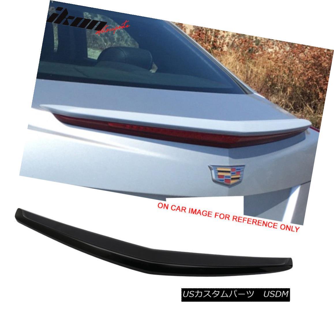 エアロパーツ For 13-18 Cadillac ATS OE Flush Mount Rear Deck Trunk Spoiler Wing #WA8555 Black 13-18キャデラックATS OEフラッシュマウントリアデッキトランク・スポイラー・ウィング#WA8555ブラック