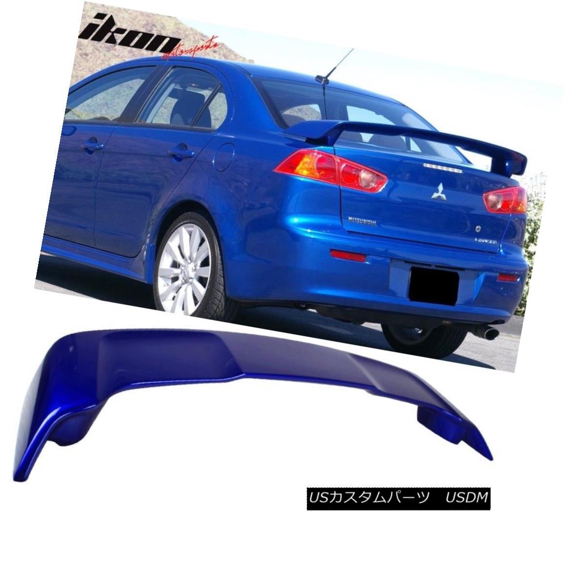 エアロパーツ 08-17 Mitsubishi Lancer OE Style Trunk Spoiler Painted #T70 Electric Blue Pearl 08-17三菱ランサーOEスタイルトランク・スポイラー#T70エレクトリック・ブルー・パール