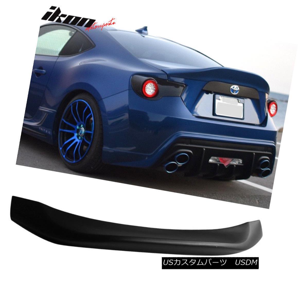 エアロパーツ Fits 13-17 Scion FRS GT86 L Type Matte Black Trunk Spoiler Wing PP フィット13-17サイオンFRS GT86 LタイプマットブラックトランクスポイラーウイングPP