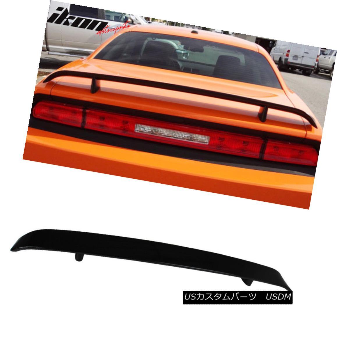 エアロパーツ 08-14 Dodge Challenger OE Trunk Spoiler Painted #PXR Brilliant Black Pearl 08-14ダッジチャレンジャーOEトランク・スポイラー#PXRブリリアント・ブラック・パール
