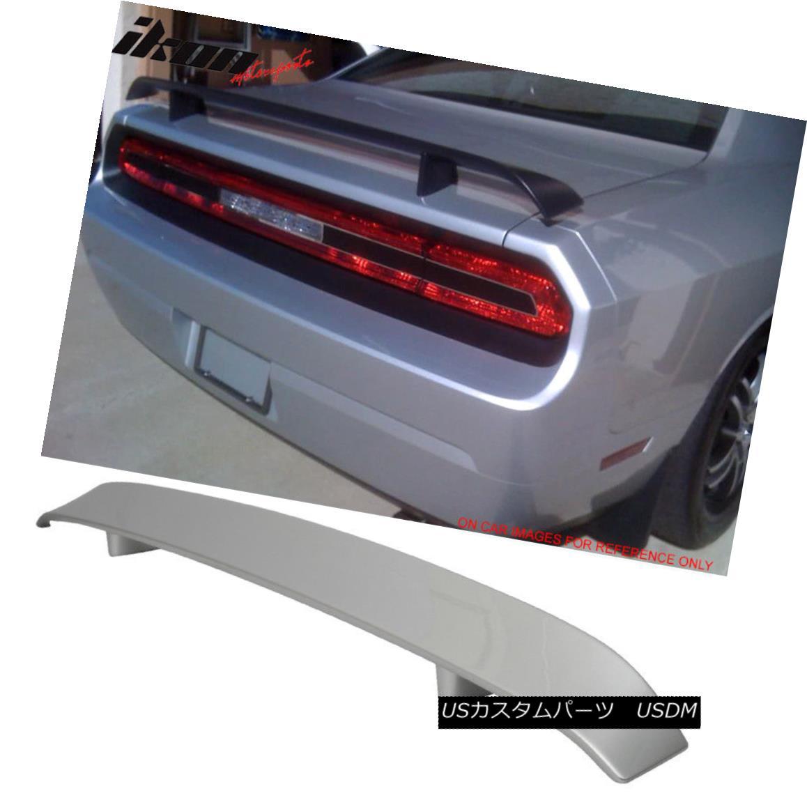 エアロパーツ 08-14 Dodge Challenger OE Trunk Spoiler Painted #PS2 Bright Silver Metallic 08-14ダッジチャレンジャーOEトランク・スポイラー#PS2ブライト・シルバー・メタリック