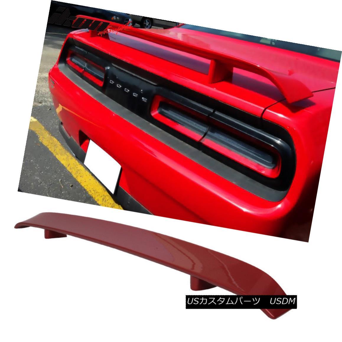 エアロパーツ 08-14 Dodge Challenger OE Trunk Spoiler Painted Inferno Red Crystal Pearl 08-14ダッジチャレンジャーOEトランク・スポイラーペイント・インフェルノレッド・クリスタル・パール