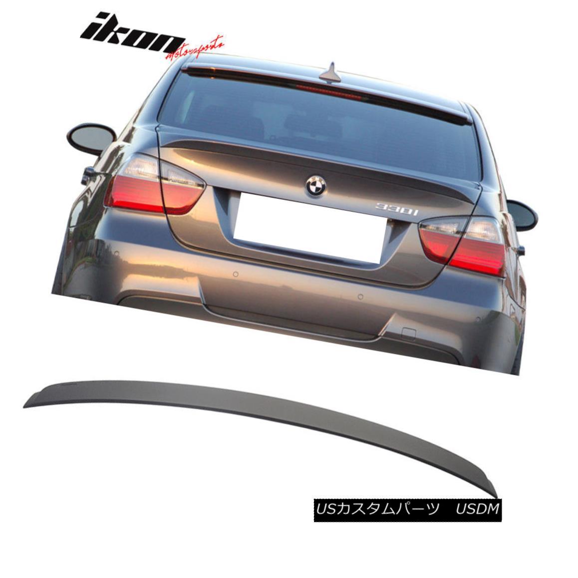 エアロパーツ Fits 06-11 BMW 3 Series E90 Sedan 4Dr AC Unpainted ABS Rear Roof Spoiler Wing フィット06-11 BMW 3シリーズE90セダン4Dr AC未塗装ABSリアルーフスポイラーウイング