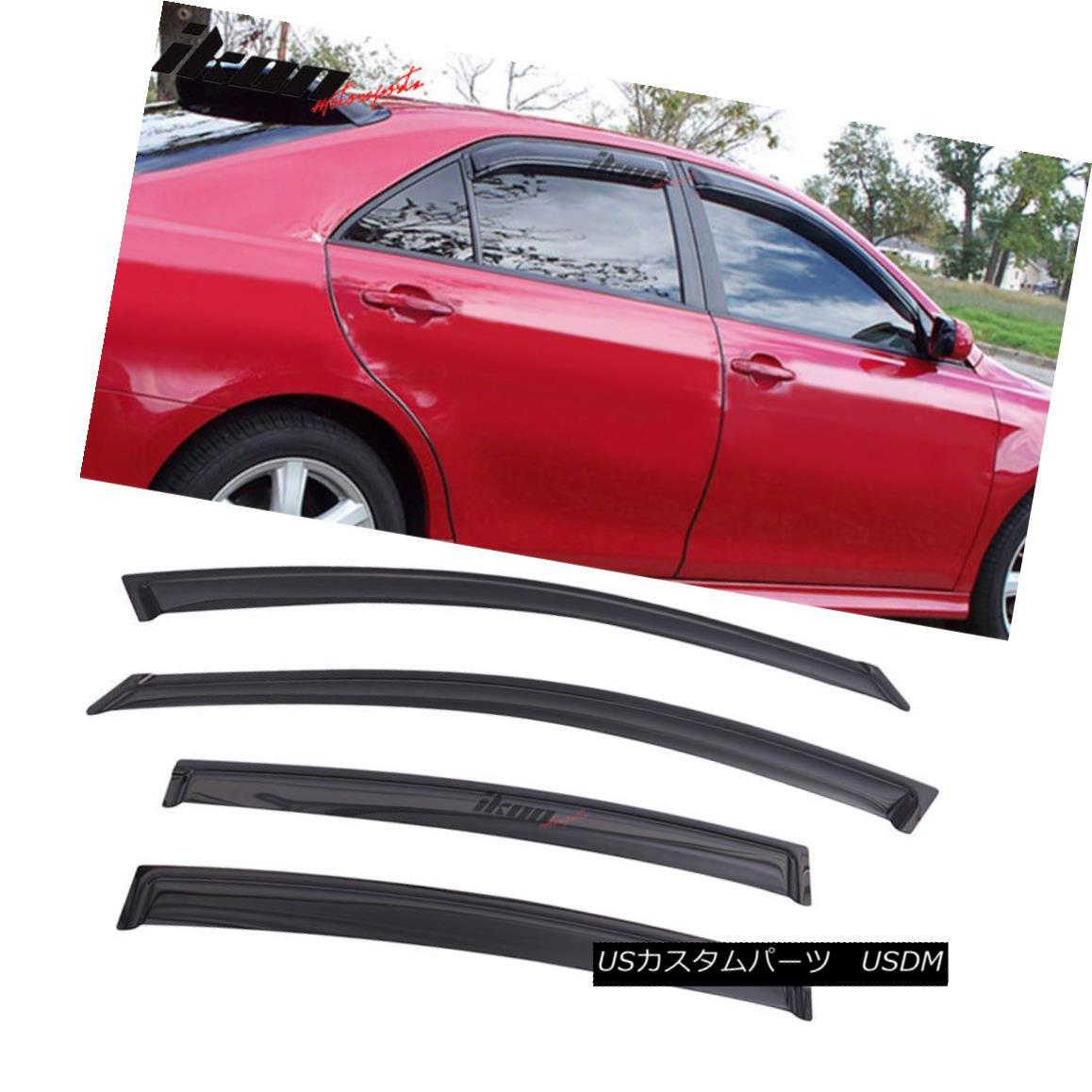 エアロパーツ Fits 04-08 Nissan Maxima Acrylic Window Visors 4Pc Set フィット04-08日産マキシマアクリル窓バイザー4個セット