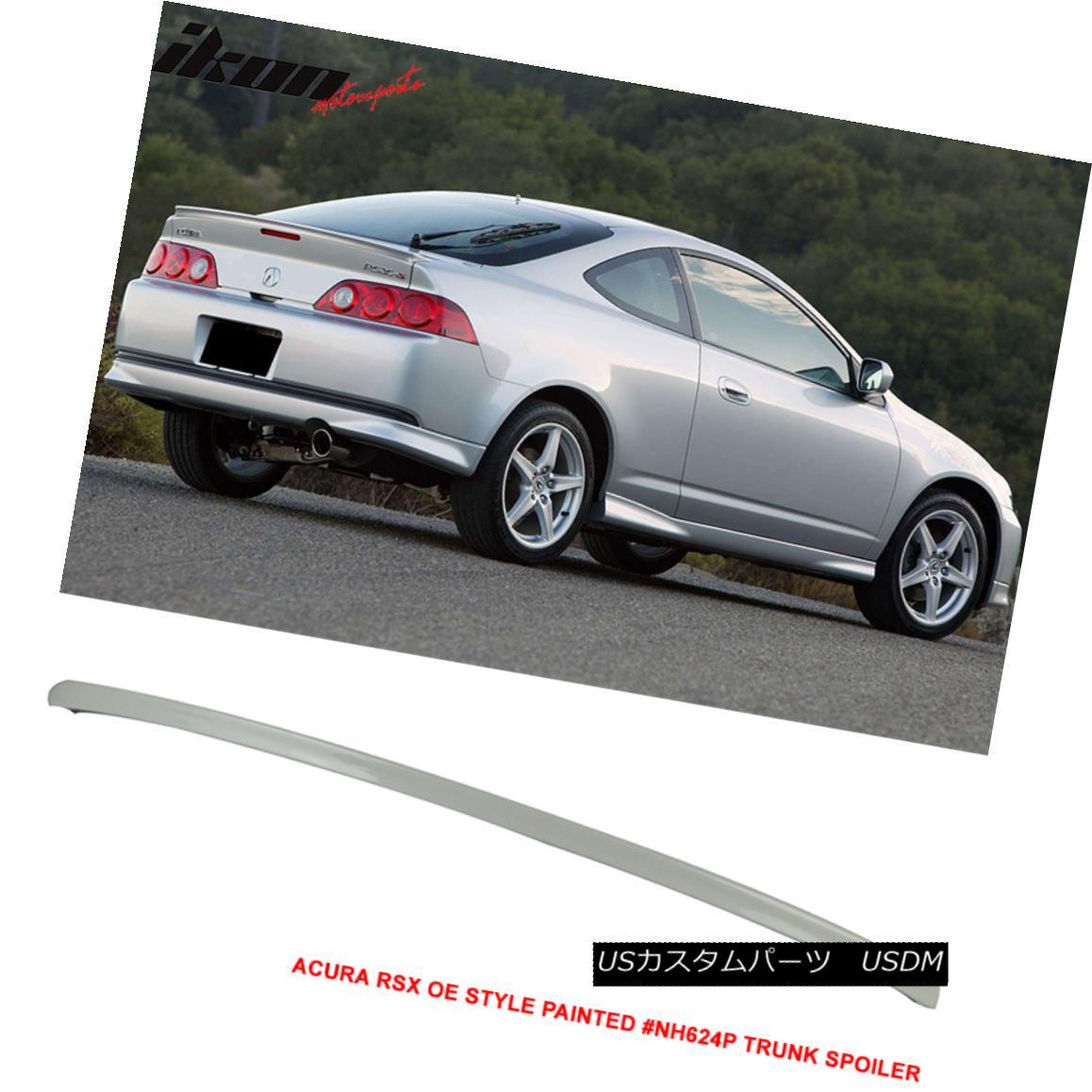 エアロパーツ 02-06 Acura RSX OE Style Trunk Spoiler Painted # NH624P Premium White Pearl 02-06アキュラRSX OEスタイルトランクスポイラー塗装済み#NH624Pプレミアムホワイトパール
