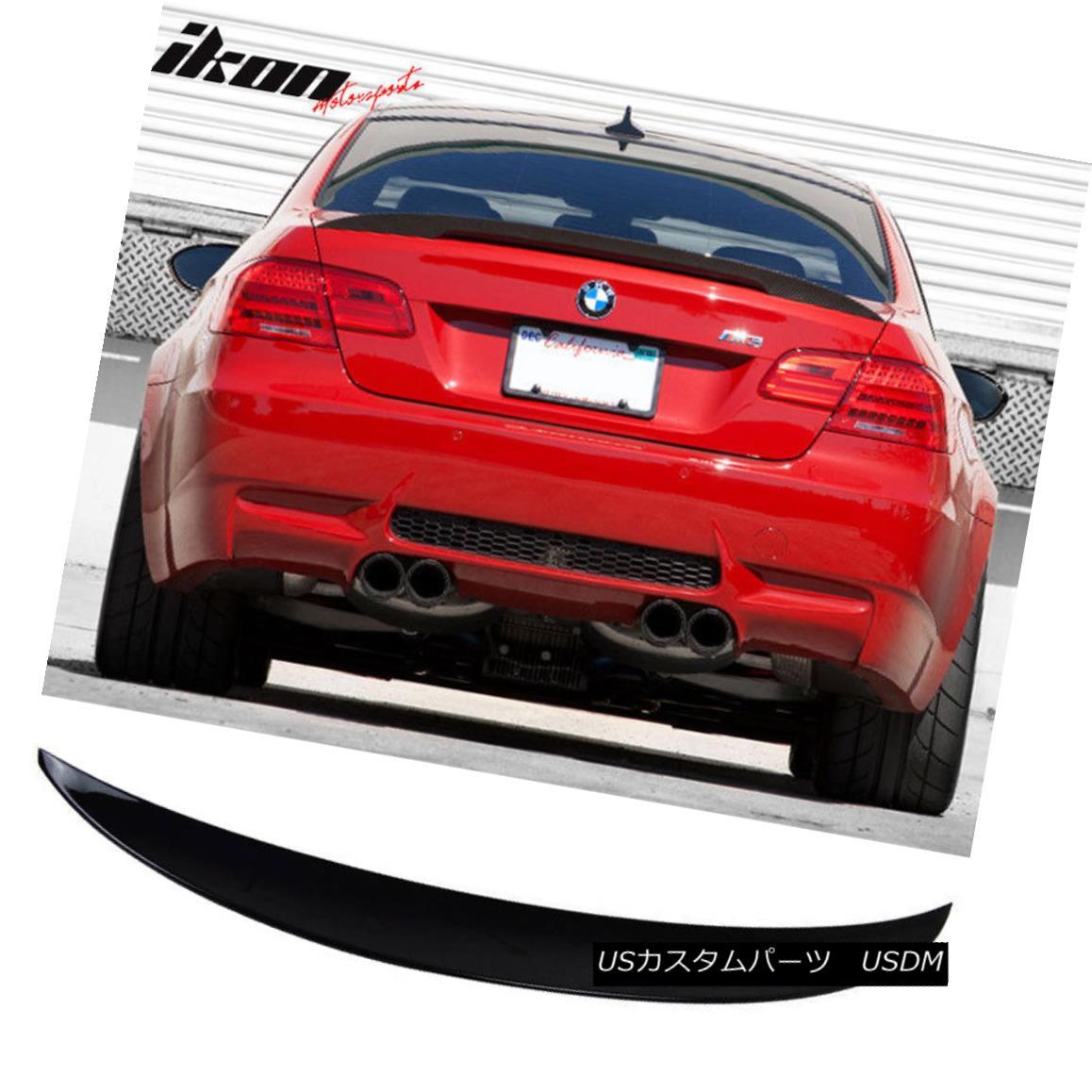 エアロパーツ 07-13 BMW 3-Series E92 2Dr Painted # 668 Jet Black Rear Trunk Spoiler Wing (ABS) 07-13 BMW 3シリーズE92 2Drペイント#668ジェットブラックリアトランクスポイラーウィング(ABS)