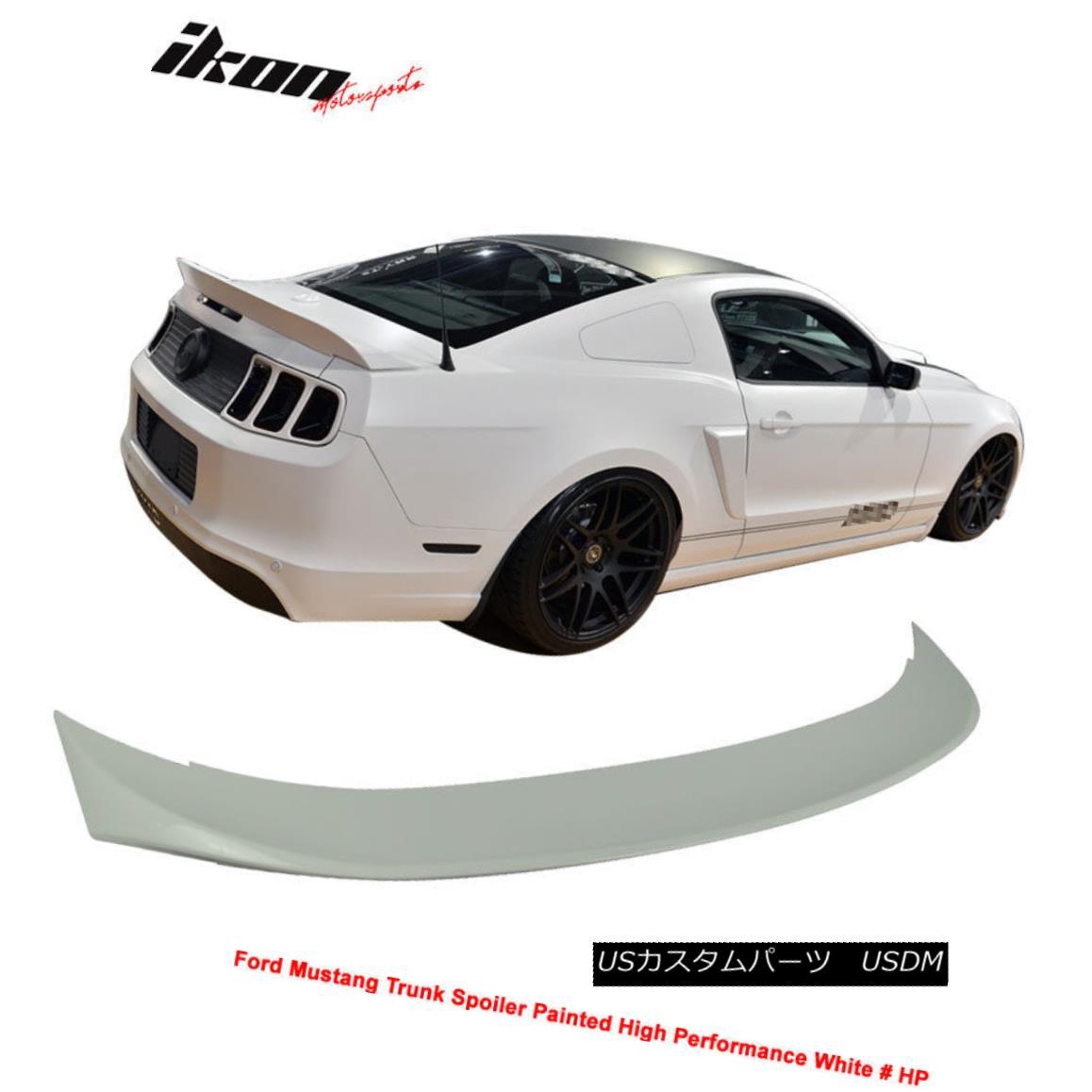 エアロパーツ 10-14 Ford Mustang D Style Trunk Spoiler Painted High Performance White # HP 10-14フォードマスタングDスタイルのトランク・スポイラー、高性能の白塗り#HP