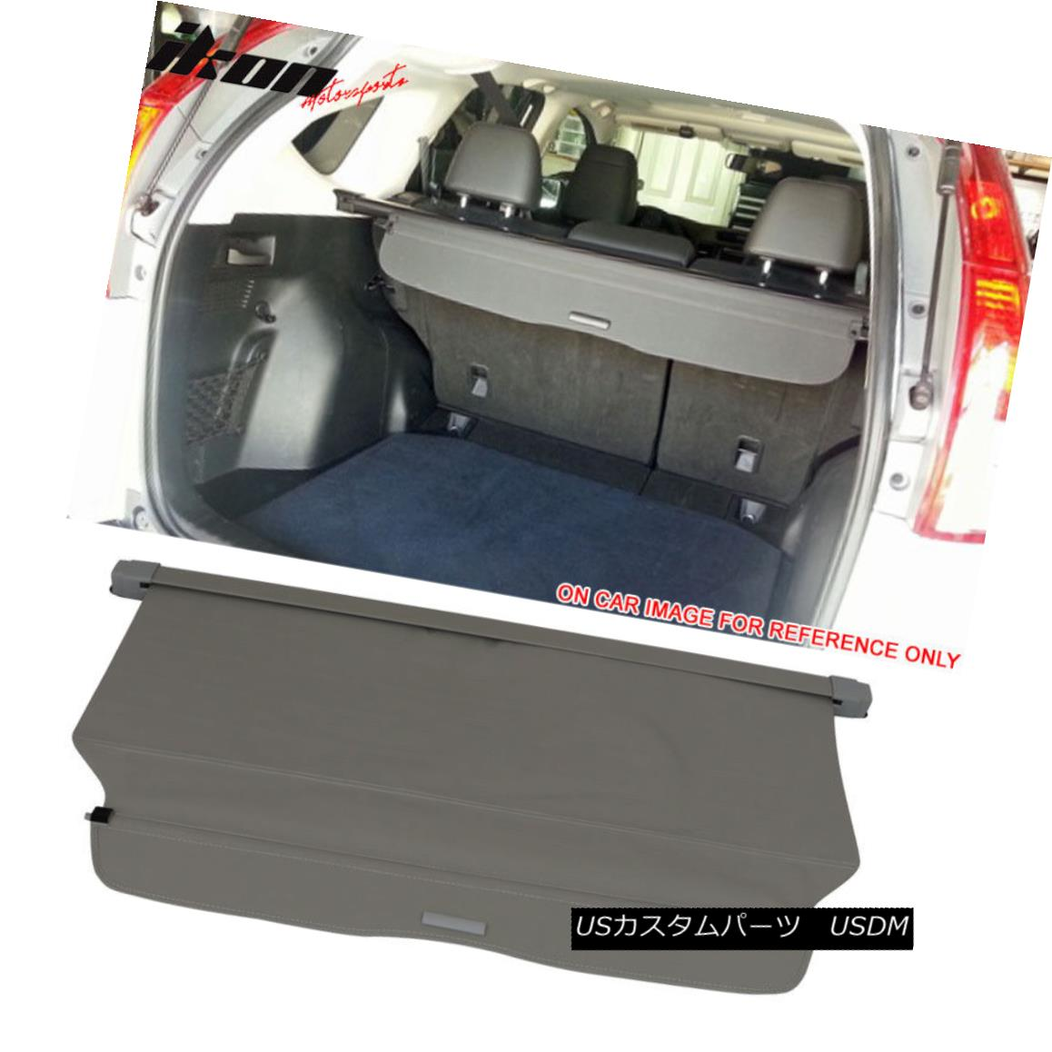 エアロパーツ Fits 12-16 CRV OE FACTORY Retractable Rear Cargo Security Trunk Cover Gray New 12-16 CRV OE FACTORYリトラクタブルリアカーゴセキュリティトランクカバーに適合