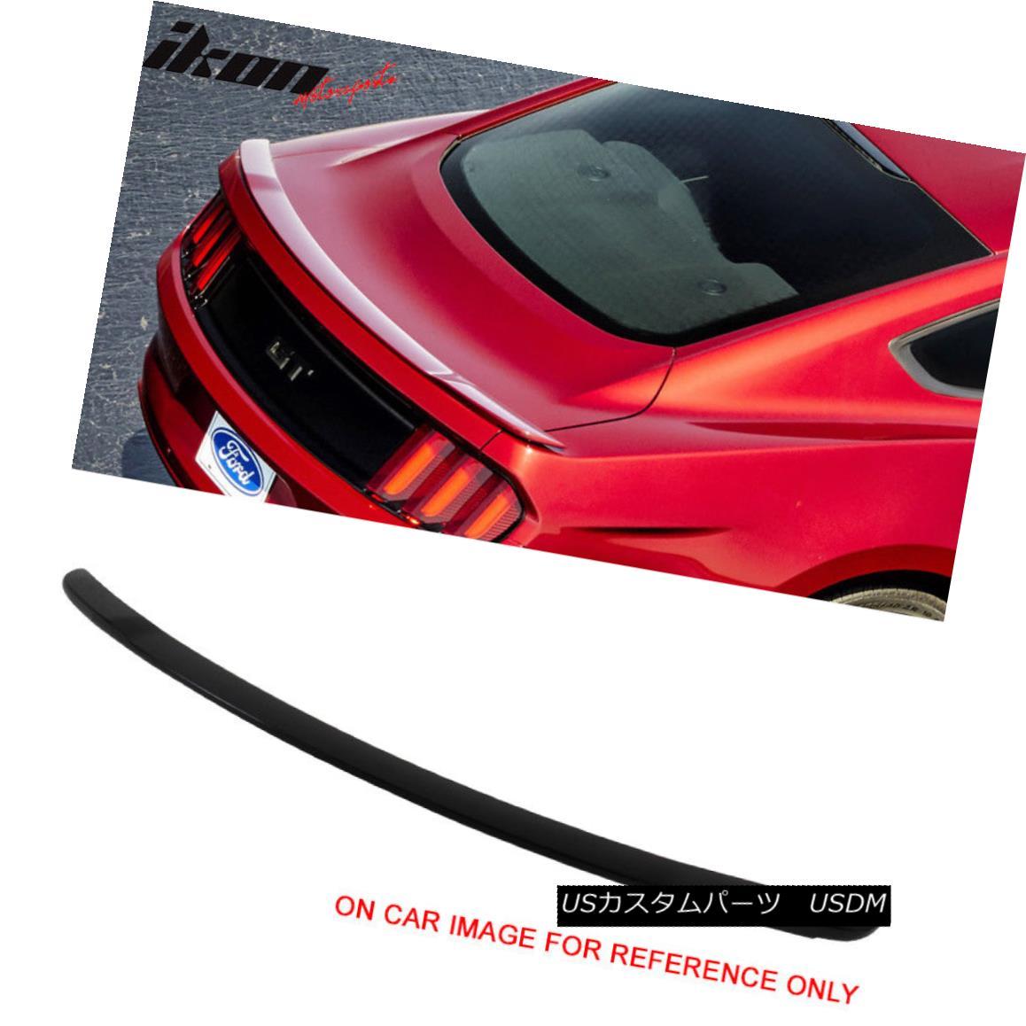 エアロパーツ 15-18 Ford Mustang 2Dr GT Style Painted Trunk Spoiler Wing #UA Ebony 15-18フォードマスタング2Dr GTスタイル塗装トランクスポイラーウイング#UA Ebony