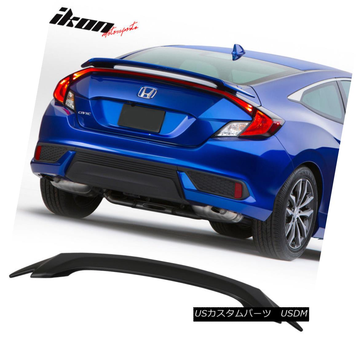 Stock ABS OE Style Rear Trunk Spoiler Wing For Honda CIVIC SI 2006~11 Coupe