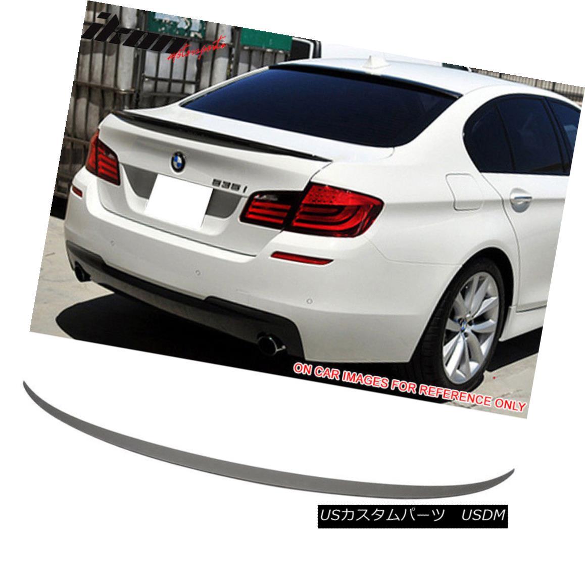 エアロパーツ Fits 11-16 BMW 5-Series F10 Sedan M5 Style Trunk Spoiler Painted Matte Black フィット11-16 BMW 5シリーズF10セダンM5スタイルトランクスポイラー塗装マットブラック