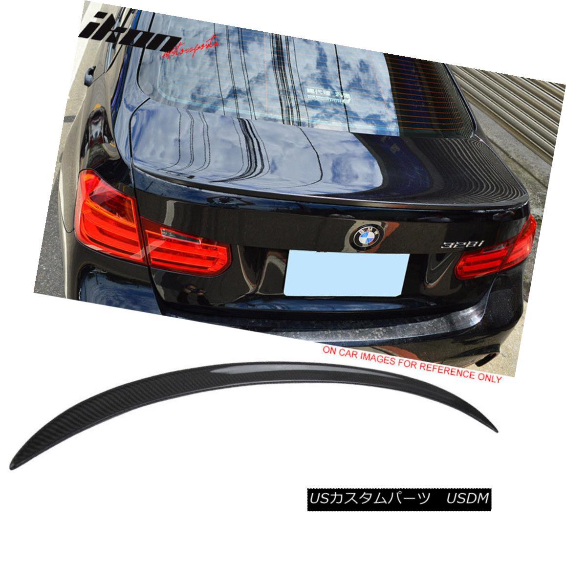 エアロパーツ 14-17 BMW 3-Series F80 4Dr Sedan M3 Style Trunk Spoiler - Carbon Fiber (CF) 14-17 BMW 3シリーズF80 4DrセダンM3スタイルトランク・スポイラー - 炭素繊維(CF)