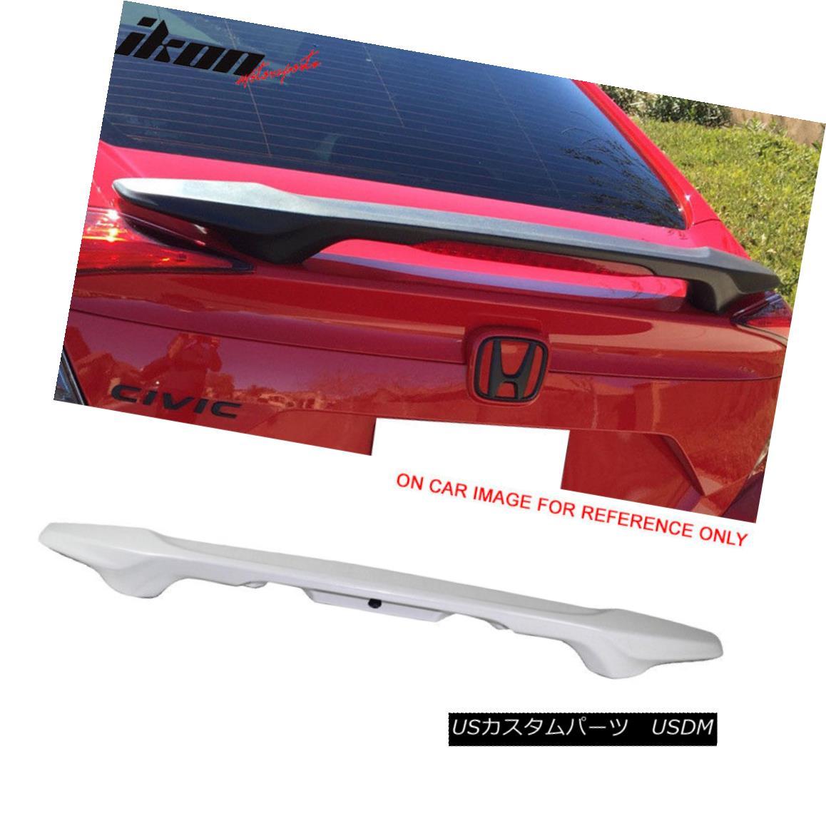 エアロパーツ 16-18 Civic Sedan OE Factory Painted Trunk Spoiler #NH788P White Orchid Pearl 16-18シビックセダンOE工場塗装トランクスポイラー#NH788Pホワイトオーキッドパール