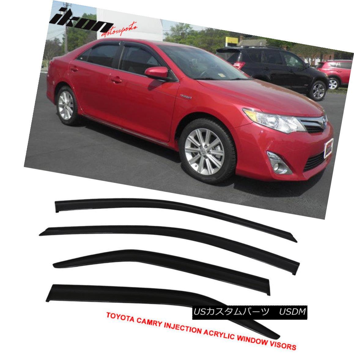 エアロパーツ Fits 12-16 Toyota Camry Acrylic Window Visors 4Pc Set 12-16トヨタカムリアクリル窓のバイザー4個セット
