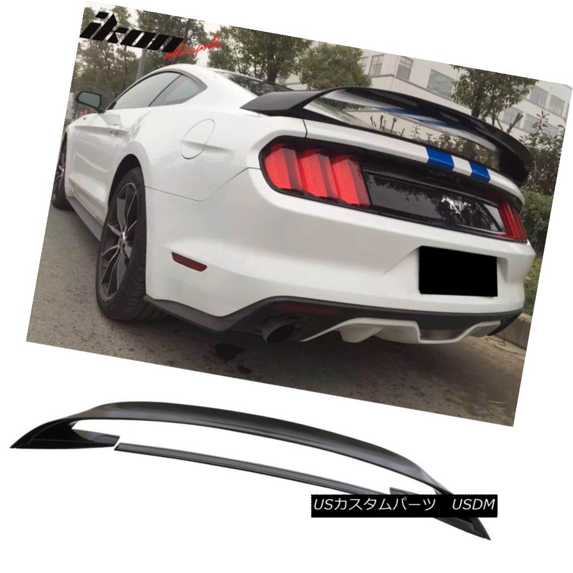 エアロパーツ Fits 15-18 Ford Mustang GT350 GT350R Style Trunk Spoiler Glossy Black ABS フィット15-18フォードマスタングGT350 GT350Rスタイルトランクスポイラー光沢ブラックABS