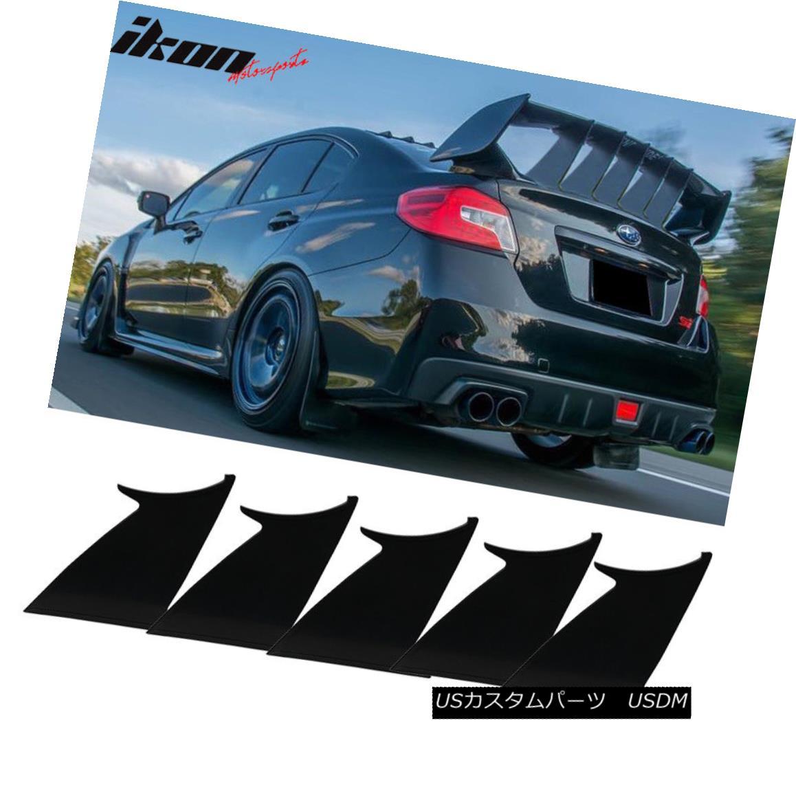 エアロパーツ 5PC Fits 15-18 Subaru WRX STI ABS Trunk Spoiler Wing Stabilizer Support Add On 5PC 15-18スバルWRX STI ABSトランク・スポイラーウィング・スタビライザー・サポートの追加