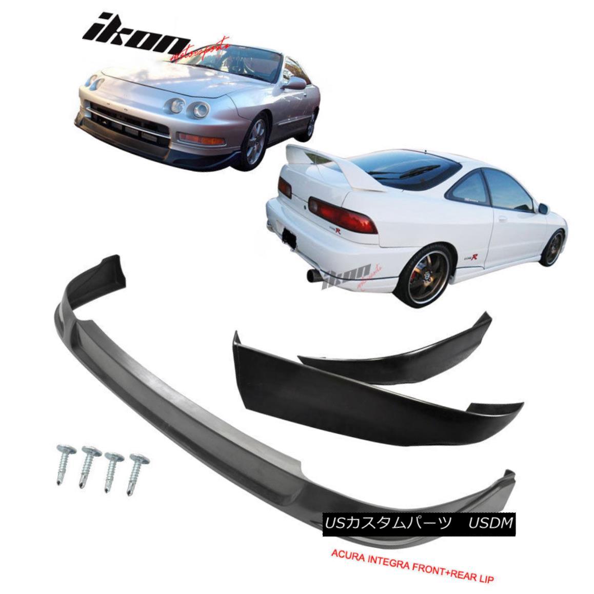 エアロパーツ Fits 94-97 Acura Integra Coupe CONCEPT Urethane Front Lip + T-R ABS Rear Lip フィット94-97アキュラインテグラクーペCONCEPTウレタンフロントリップ+ T-R ABSリアリップ
