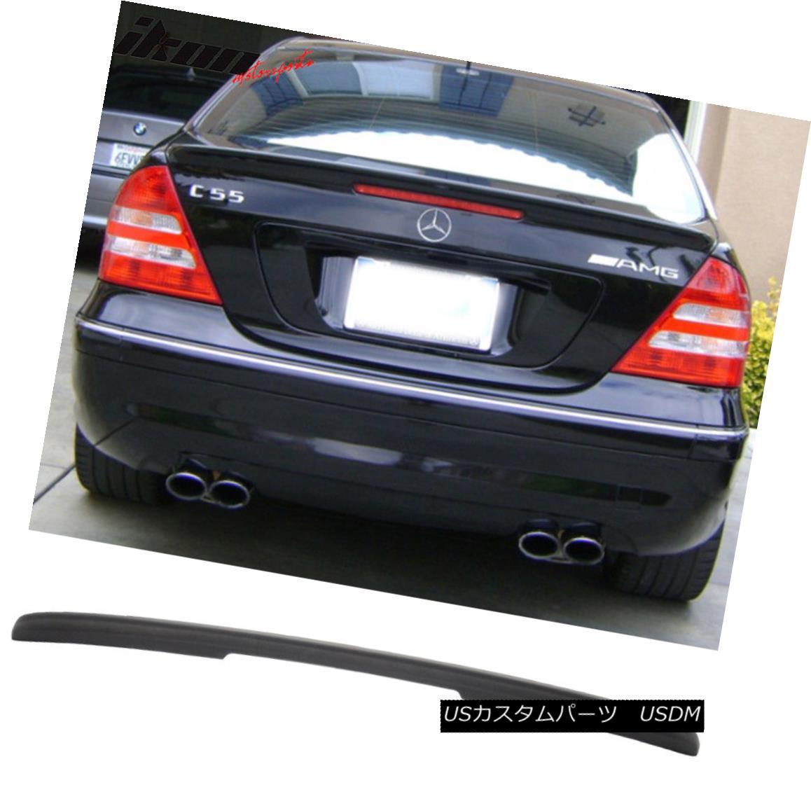 エアロパーツ 01-07 Benz C-Class W203 Sedan 4Dr ABS AMG Style Trunk Spoiler - Matte Black 01-07ベンツCクラスW203セダン4Dr ABS AMGスタイルトランクスポイラー - マットブラック
