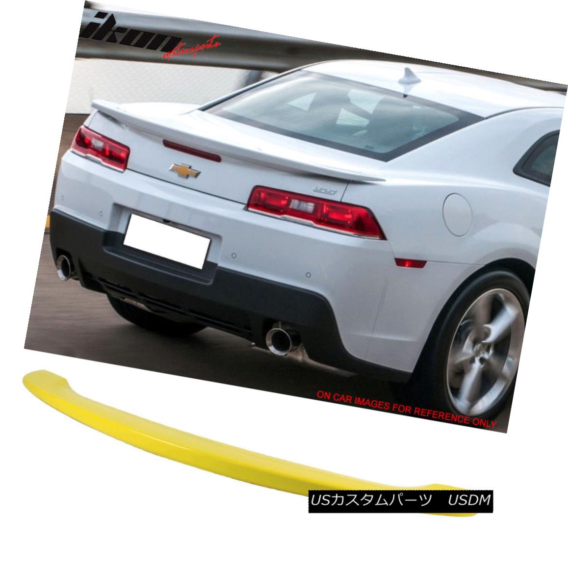 エアロパーツ 14-15 Chevy Camaro 2Dr OE Factory Trunk Spoiler Painted #WA131X Lemon Peel 14-15 Chevy Camaro 2Dr OE工場のトランク・スポイラー・ペイント#WA131X Lemon Peel