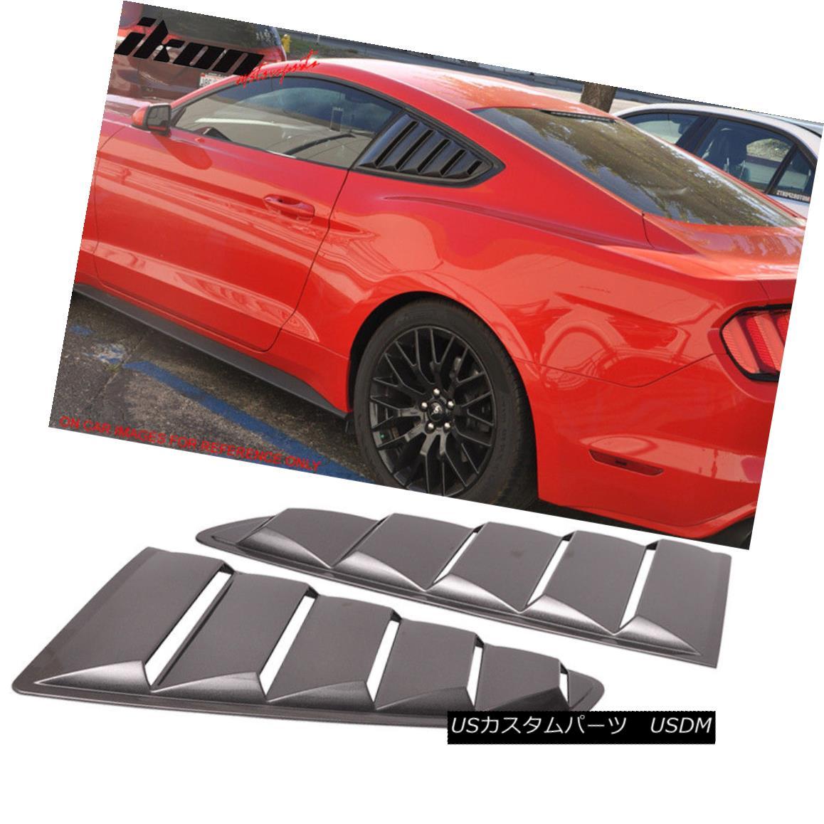 エアロパーツ Fits 15-18 Mustang OE Style Painted #J7 Magnetic Side Window Louvers Pair フィット15-18ムスタングOEスタイル塗装#J7磁気サイドウィンドウルーバーペア