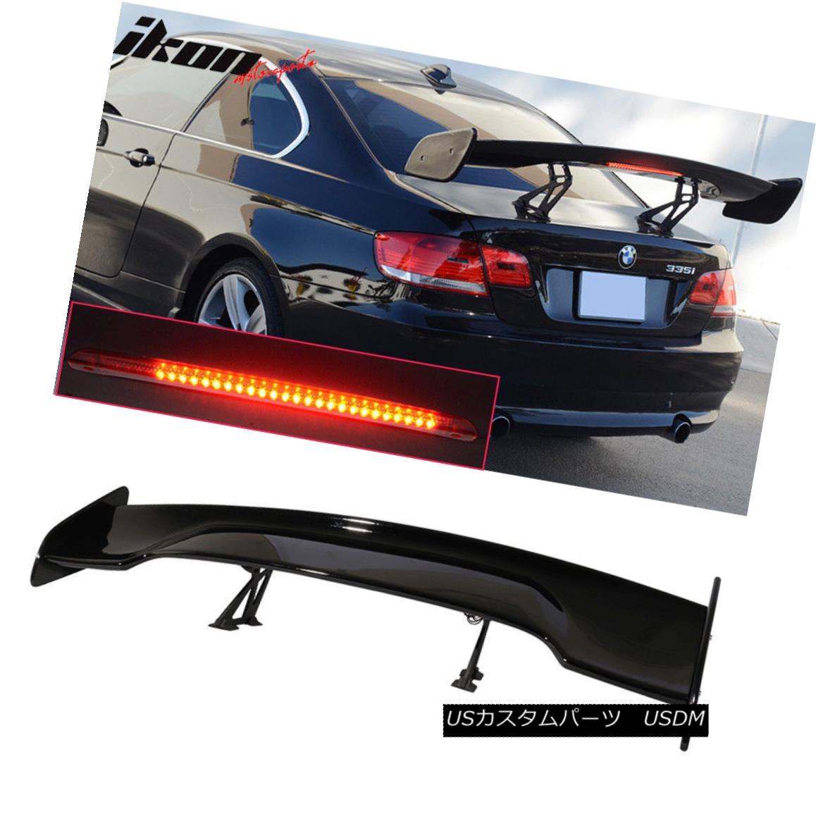 エアロパーツ Universal 57 Inch GT Trunk Spoiler Wing & LED Brake Light Gloss Black ABS ユニバーサル57インチGTトランク・スポイラー・ウィング& LEDブレーキライトグロスブラックABS