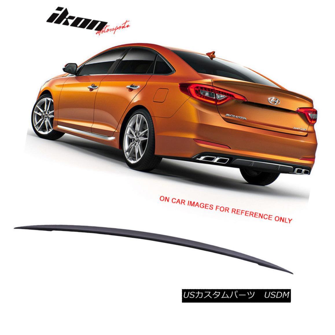 エアロパーツ Fits 15-16 Hyundai Sonata LF Factory Style ABS Unpainted Trunk Spoiler Wing フィット15-16 Hyundai Sonata LF工場スタイルABS無塗装トランク・スポイラー・ウィング