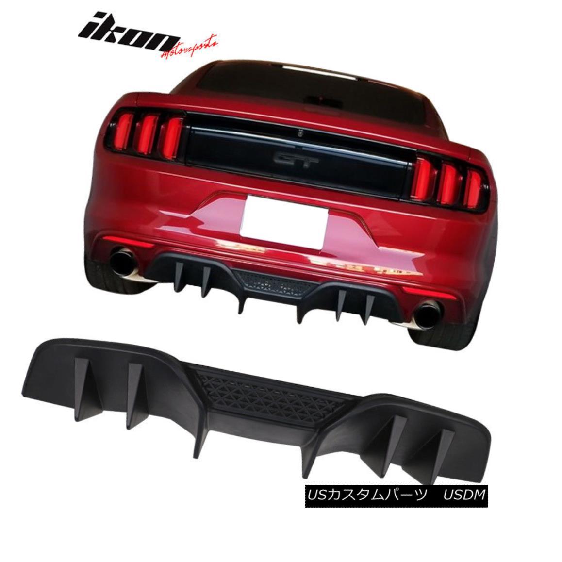 エアロパーツ Fits 15-17 Ford Mustang R-Spec V2 Rear Diffuser Lower Valance for NON PREMIUM ノンプレミアム15-17 Ford Mustang RスペックV2リアディフューザーローバルズに適合