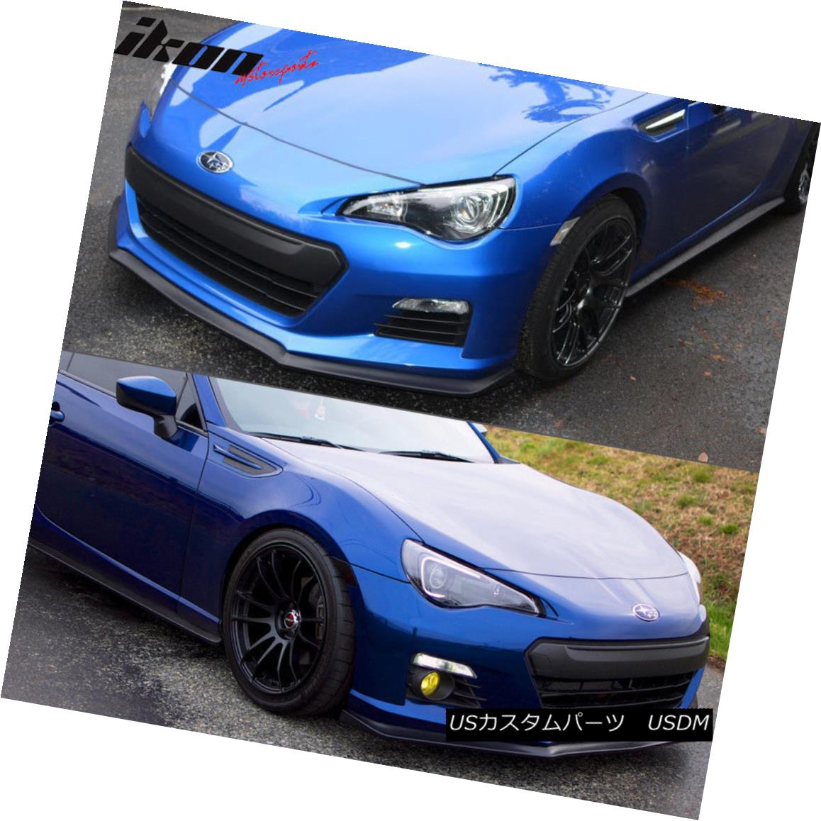 Urethane PU Fits 13-16 Subaru BRZ Coupe 2Dr CS Style Front Bumper Lip Spoiler