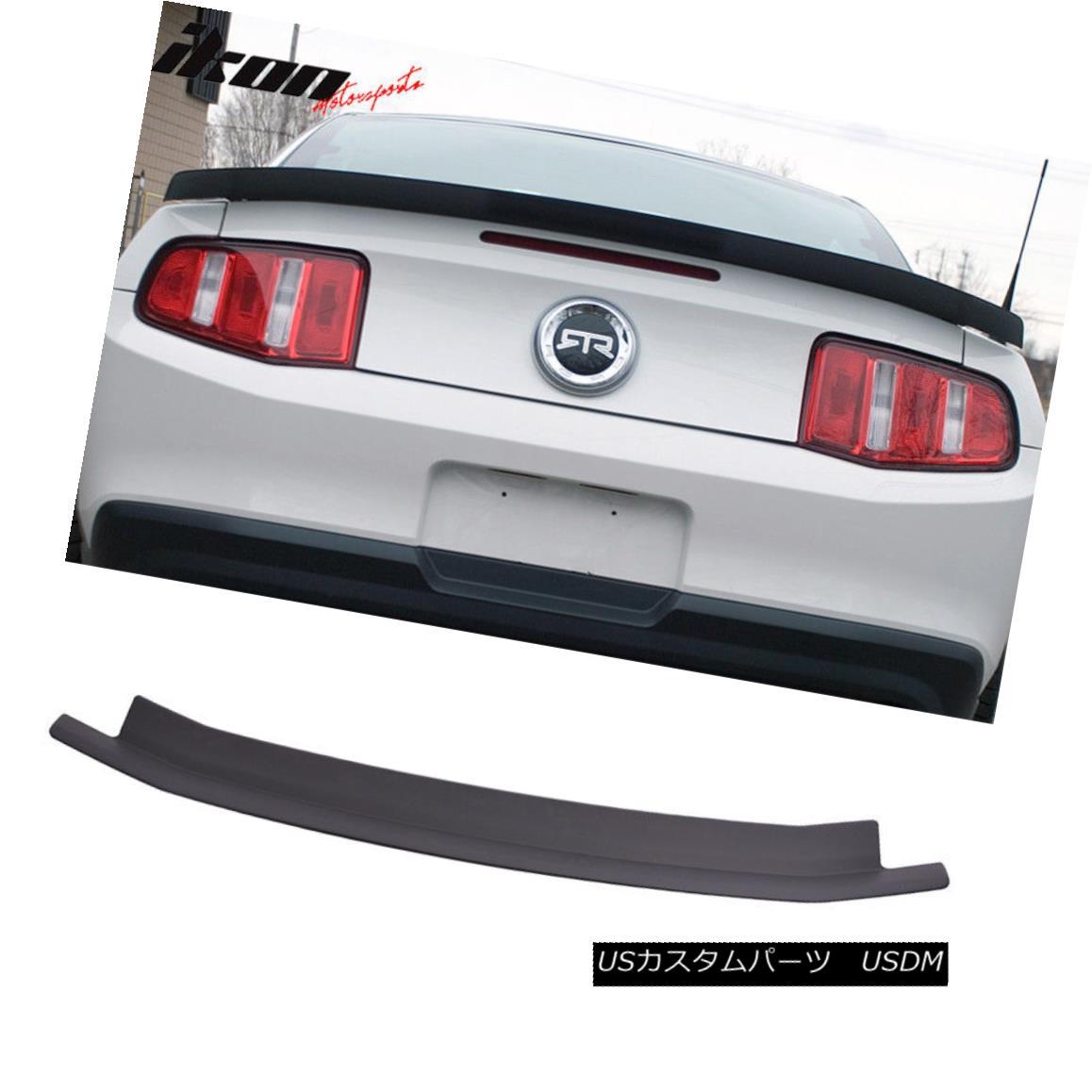 エアロパーツ 10-14 Ford Mustang Unpainted Trunk Spoiler Wing - ABS 10-14フォードマスタング未塗装トランク・スポイラー・ウィング - ABS