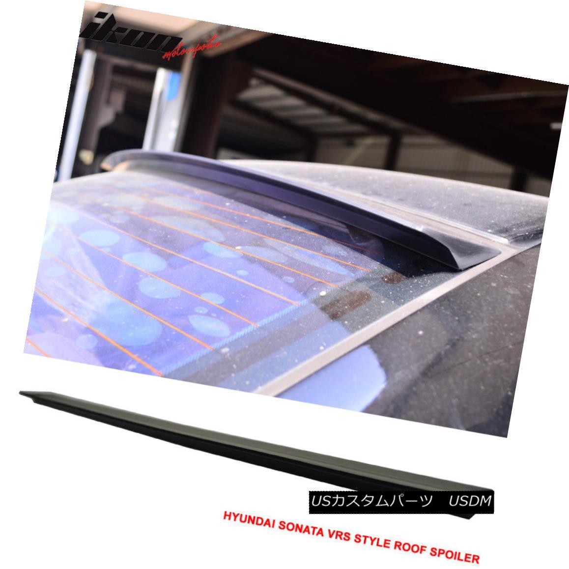 エアロパーツ For 04-10 Hyundai Sonata NF VRS Style Roof Spoiler Wing Unpainted - PUF 04-10現代ソナタNF VRSスタイルルーフスポイラーウイング無塗装 - PUF