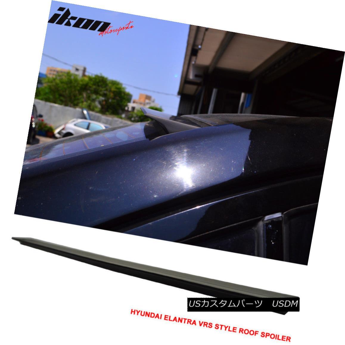 エアロパーツ For 11-15 Hyundai Elantra 5th VRS Style Roof Spoiler Wing Unpainted - PUF 11月15日現代エラントラ5th VRSスタイルルーフスポイラーウイング未塗装 - PUF