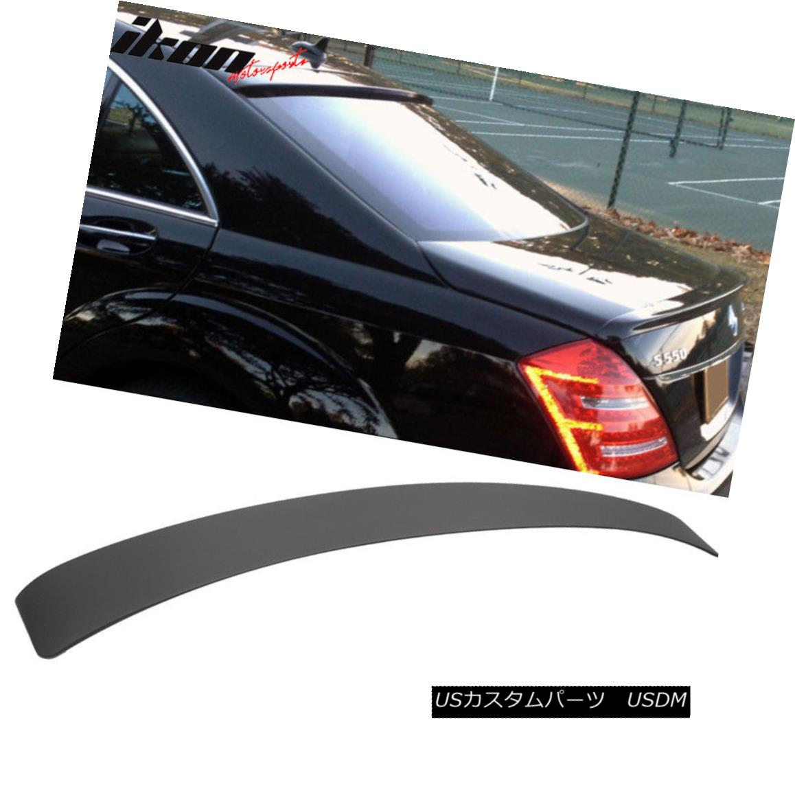 エアロパーツ Matte Black! 07-13 Benz W221 S Class L Style 4Dr Sedan Roof Spoiler Wing - ABS マットブラック! 07-13ベンツW221 SクラスLスタイル4Drセダンルーフスポイラーウィング - ABS