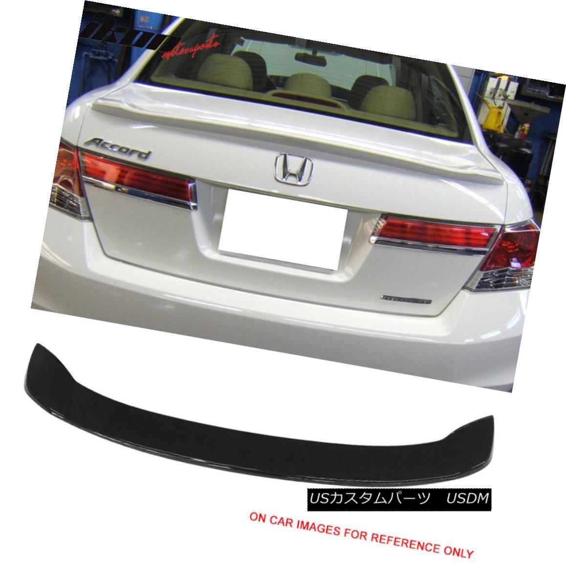 エアロパーツ Fits 08-12 Honda Accord Sedan Factory Style Trunk Spoiler Painted #NH731P Black フィット08-12ホンダアコードセダンファクトリースタイルトランクスポイラー#NH731Pブラック
