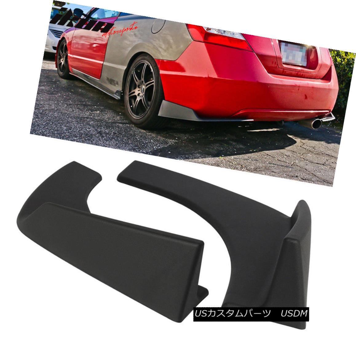 エアロパーツ Universal Fit Front Rear Bumper Lip Splitters Winglets Canards 30x4 Inch 2PC PP ユニバーサルフィットフロントリアバンパーリップスプリッターウイングレットカナード30x4インチ2PC PP