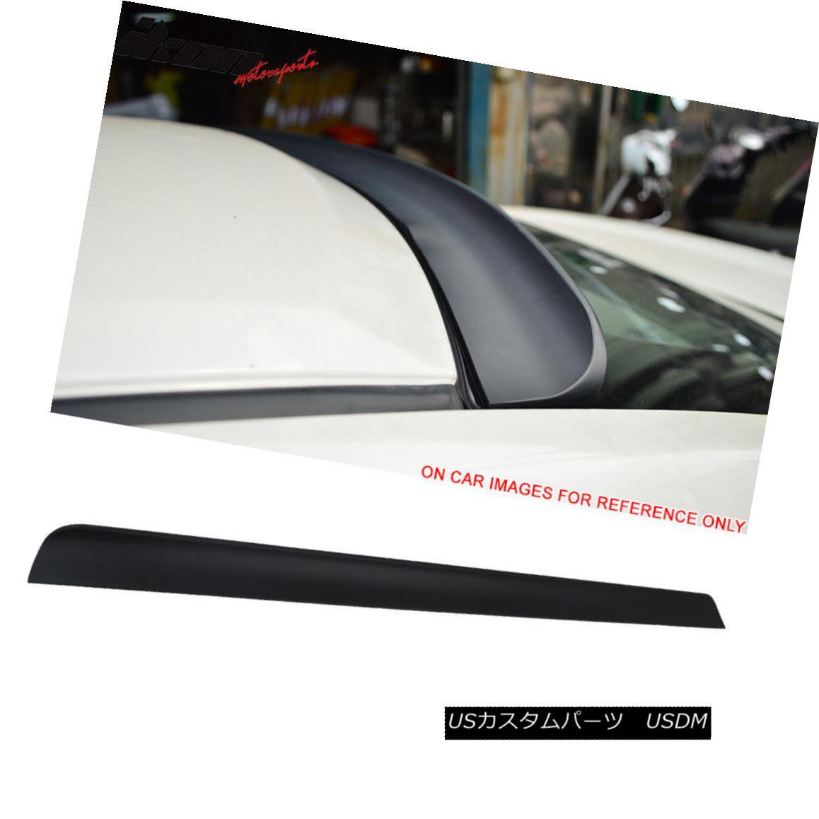 エアロパーツ Fits 14-15 BMW F32 2Dr Unpainted PU Flexible Rear Roof Spoiler Wing フィット14-15 BMW F32 2Dr未塗装PUフレキシブルリアルーフスポイラーウイング