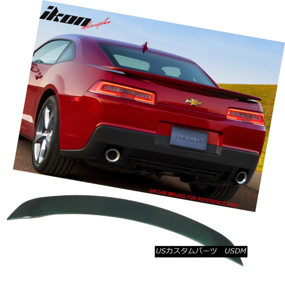エアロパーツ Fits 14-15 Chevy Camaro OE Trunk Spoiler Painted WA136X Unripened Green Metallic フィット14-15シボレーカマロOEトランク・スポイラーWA136X未塗装グリーンメタリック