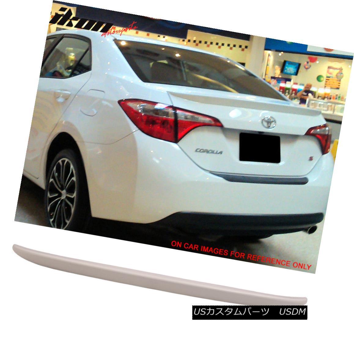エアロパーツ For 14-17 Toyota Corolla OE Style Trunk Spoiler Wing Painted #040 Super White II 14-17トヨタカローラOEスタイルトランク・スポイラーウイング・ペイント#040スーパーホワイトII