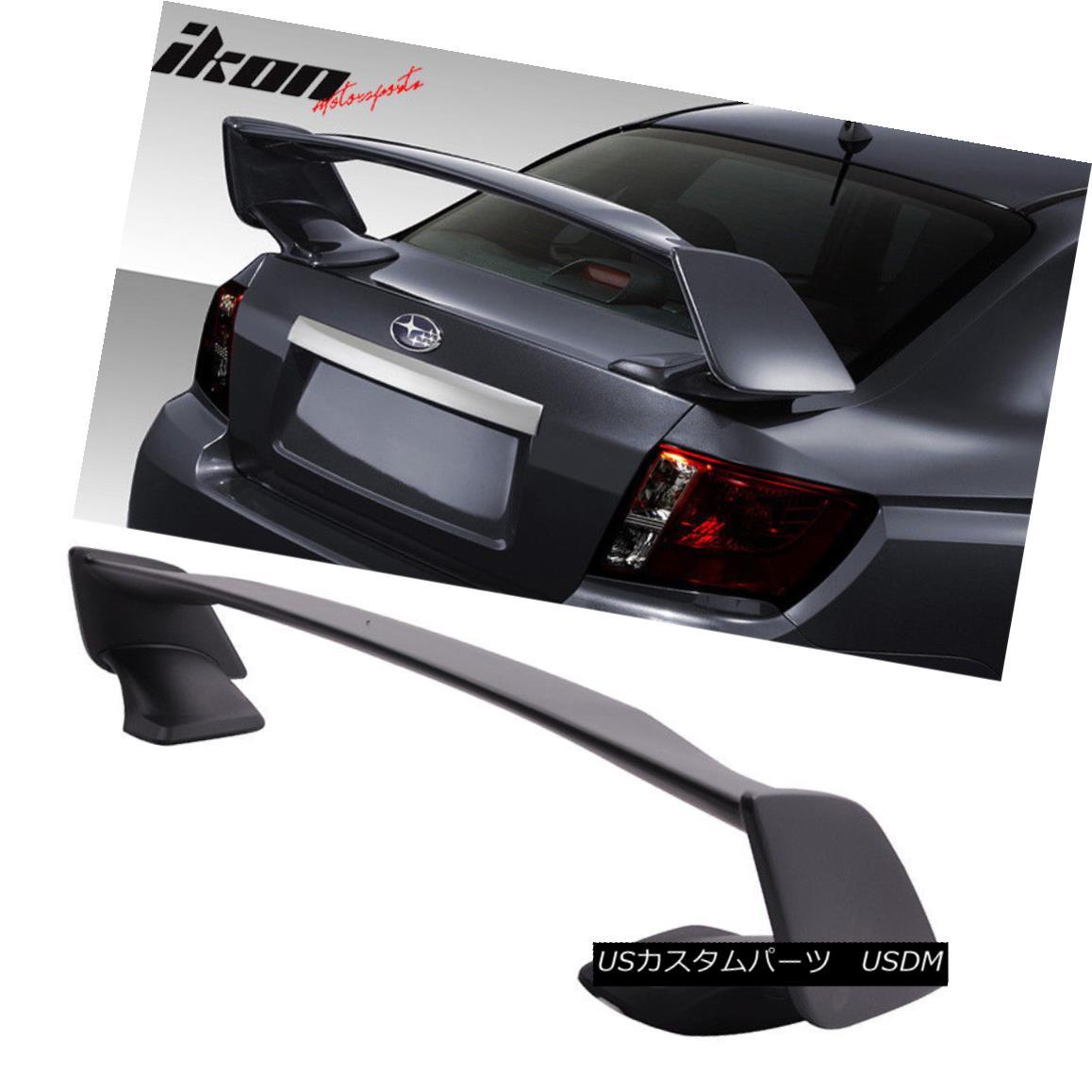 エアロパーツ Fit 08-14 Subaru WRX 4Dr 08-11 Impreza STi ST Style 4Dr Trunk Spoiler Wing (ABS) フィット08-14スバルWRX 4Dr 08-11インプレッサSTi STスタイル4Drトランクスポイラーウィング(ABS)