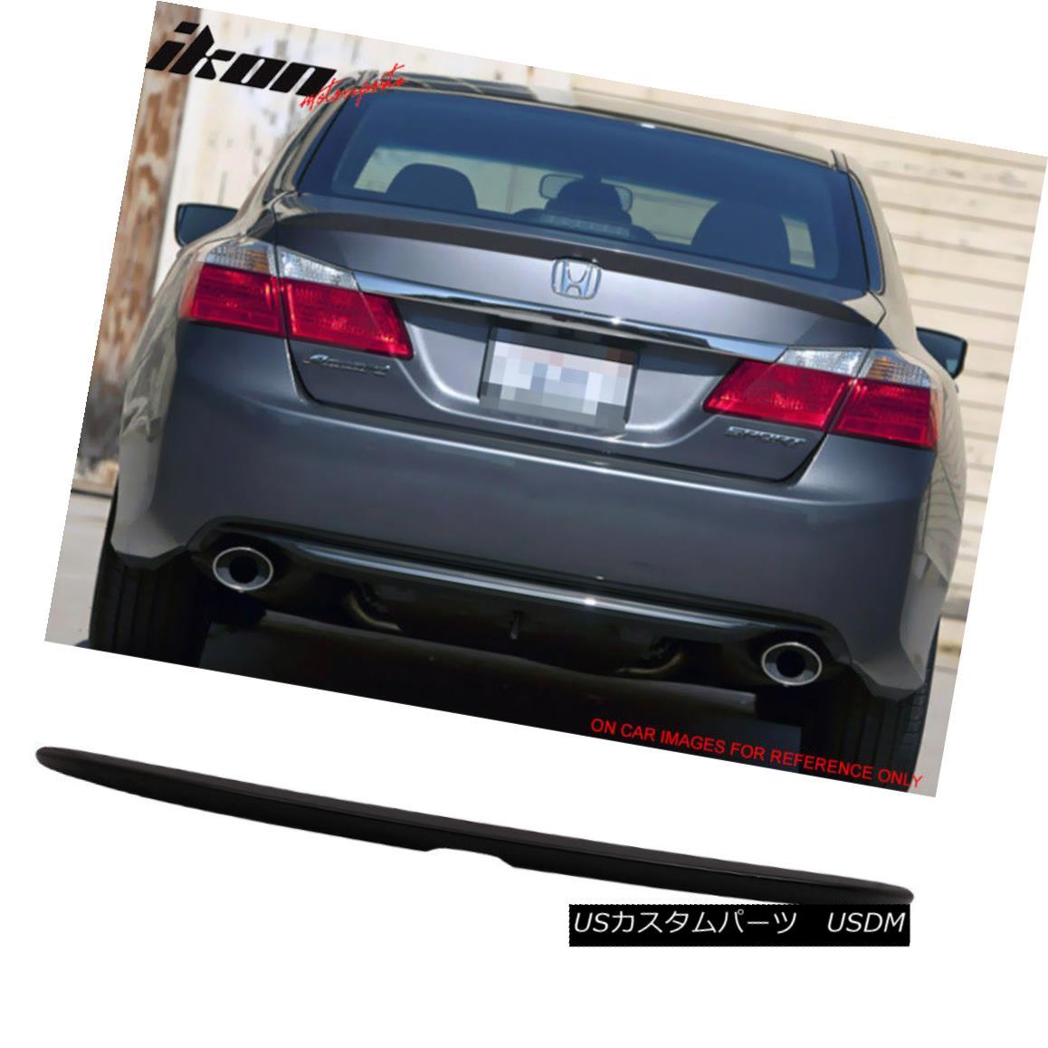 エアロパーツ For 13-16 Honda Accord OE Trunk Spoiler Wing Painted #NH731P Crystal Black Pearl 13-16ホンダアコード用OEトランク・スポイラー・ウィング・ペイント#NH731Pクリスタル・ブラック・パール