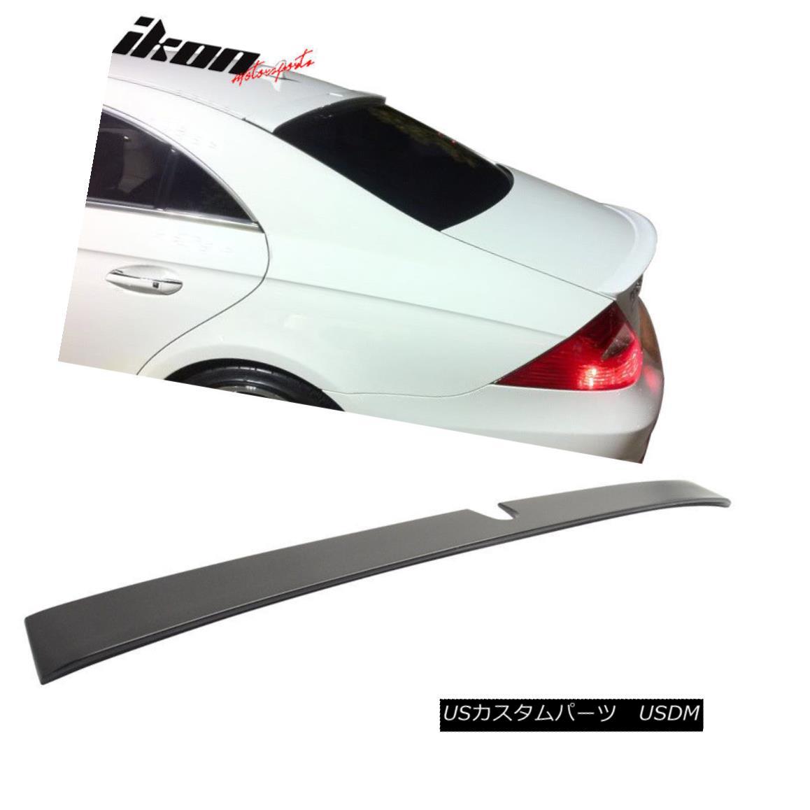 エアロパーツ Fits 05-10 Benz W219 CLS-Class Sedan Unpainted ABS Rear Roof Spoiler Wing フィット05-10ベンツW219 CLSクラスセダン未塗装ABSリアルーフスポイラーウイング