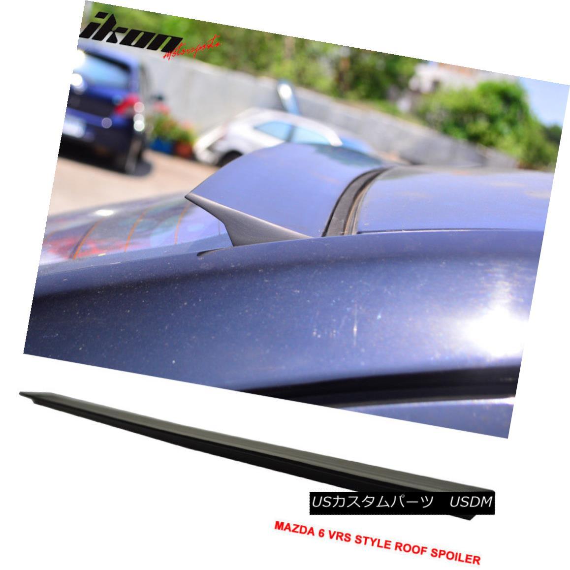 エアロパーツ For 14-16 Mazda 6 3nd VRS Style Roof Spoiler Wing Unpainted - PUF 14-16マツダ6 3ND VRSスタイルルーフスポイラーウイング無塗装 - PUF