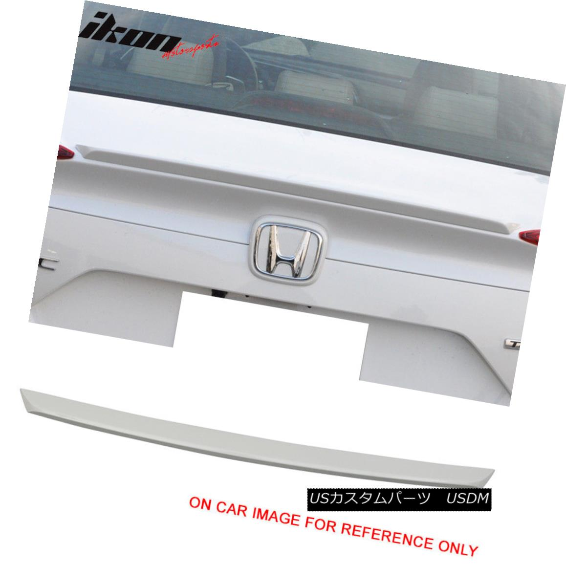 エアロパーツ 16-18 Honda Civic X Sedan OE Trunk Spoiler Painted #NH788P White Orchid Pearl 16-18ホンダシビックXセダンOEトランクスポイラー#NH788Pホワイトオーキッドパール