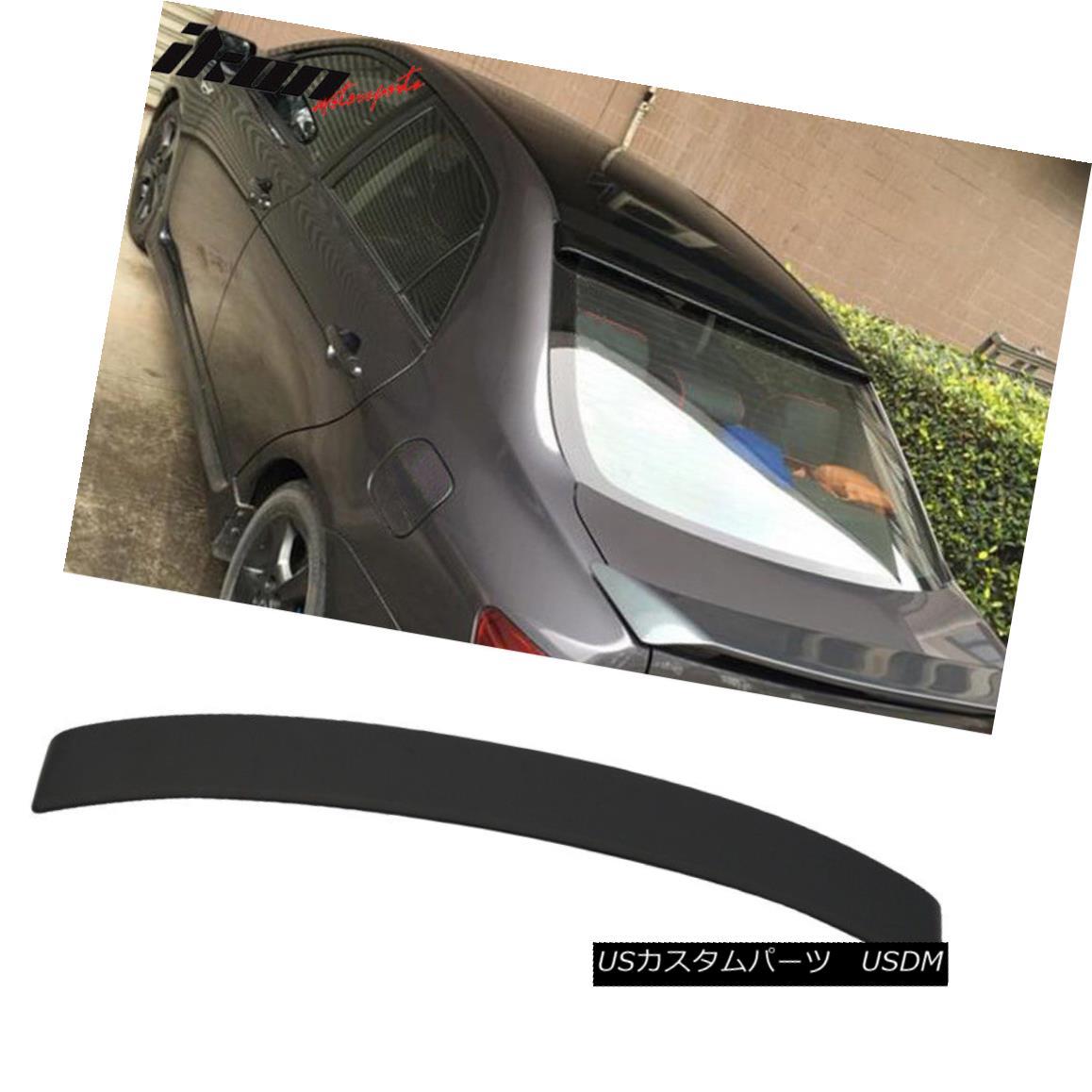 エアロパーツ Fits 09-13 Toyota Corolla S LE XLE XRS ABS Rear Roof Spoiler Unpaintd Black フィット09-13トヨタカローラS LE XLE XRS ABSリアルーフスポイラーUnpaintdブラック